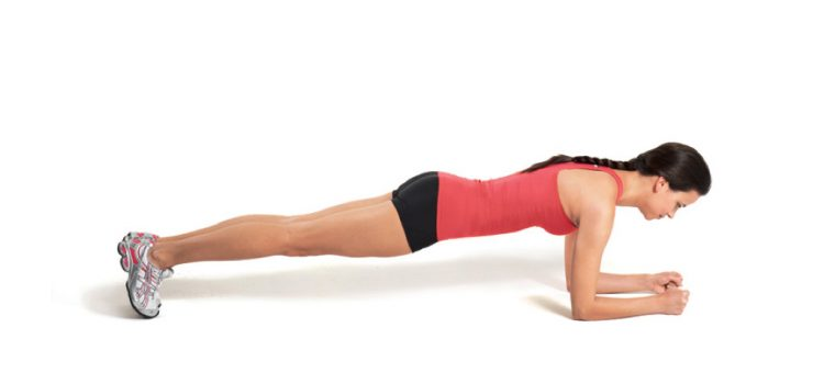Planking exercise to train core stability
