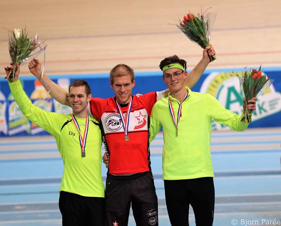 Nk indoor 2017 podium with medailes