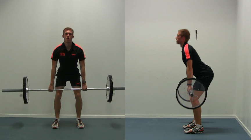 Power clean video front and side view with instructions and slow-motion performed for Olympic comittee by strength and conditioning specialist Bas Van Hooren